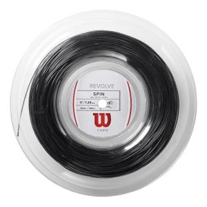 Polyester String Wilson Revolve 1.25 200 m Reel  Black WRZ906900