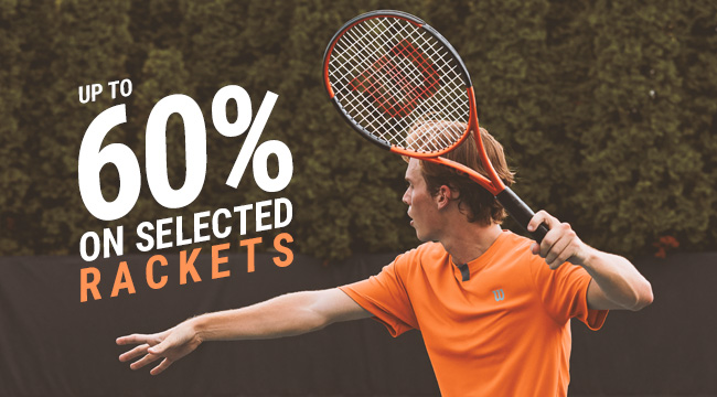 Tennis Rackets up to 60%