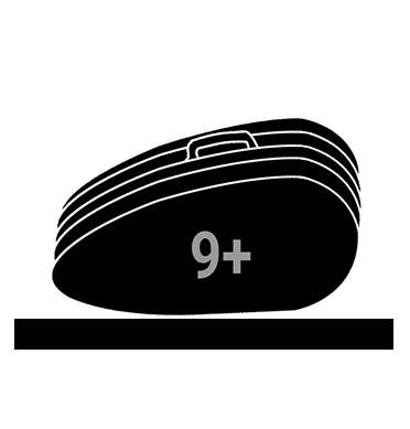 Raquetero para 9+