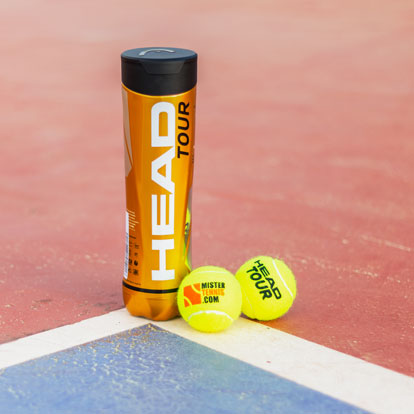 Head Tour MT Logo Special Balls with Mister Tennis logo